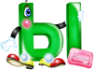 """Дидактический материал  """"Весёлые буквы """" - Обучение грамоте 1. объемные буквы..."""